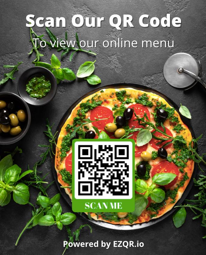 Pizza QR Menu Poster